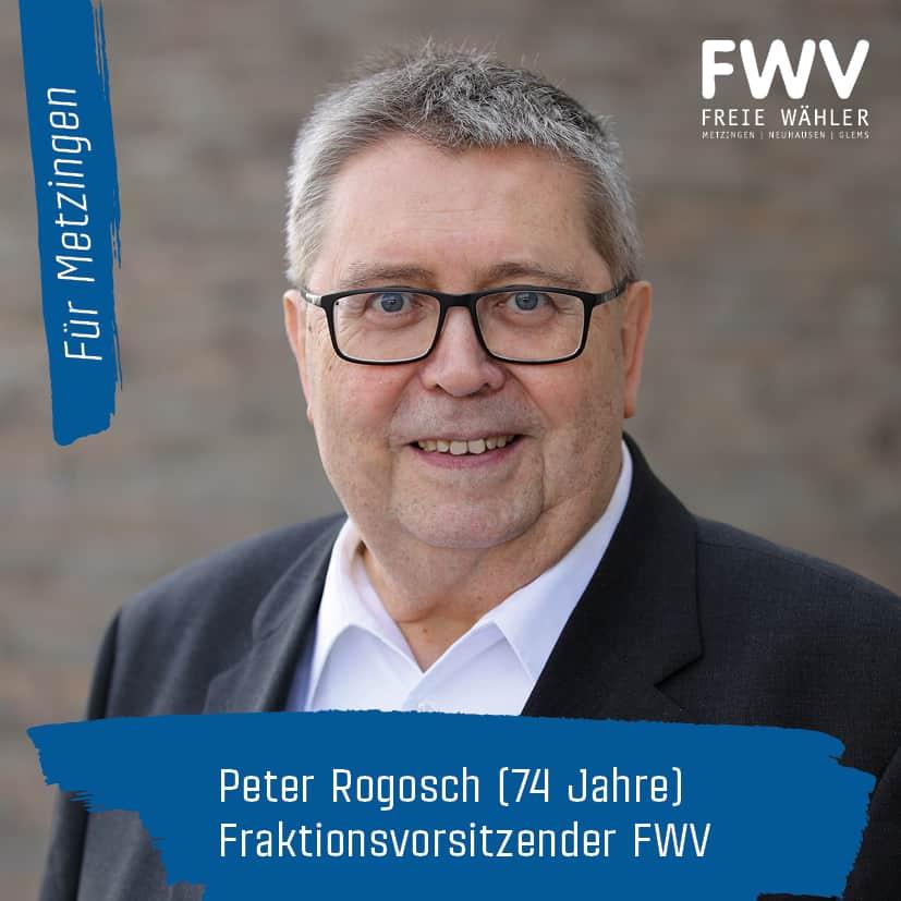 Peter Rogosch, Fraktionsvorsitzenderder FWV-Gemeinderatsfraktion